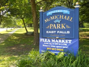 McMichael Park will once again host the annual East Falls Flea Market.