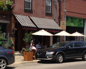Cafe La Maude is just one of many cafes and restaurants located in Northern Liberties.