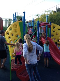 Local children play on the playground at Chester Arther Elementary.