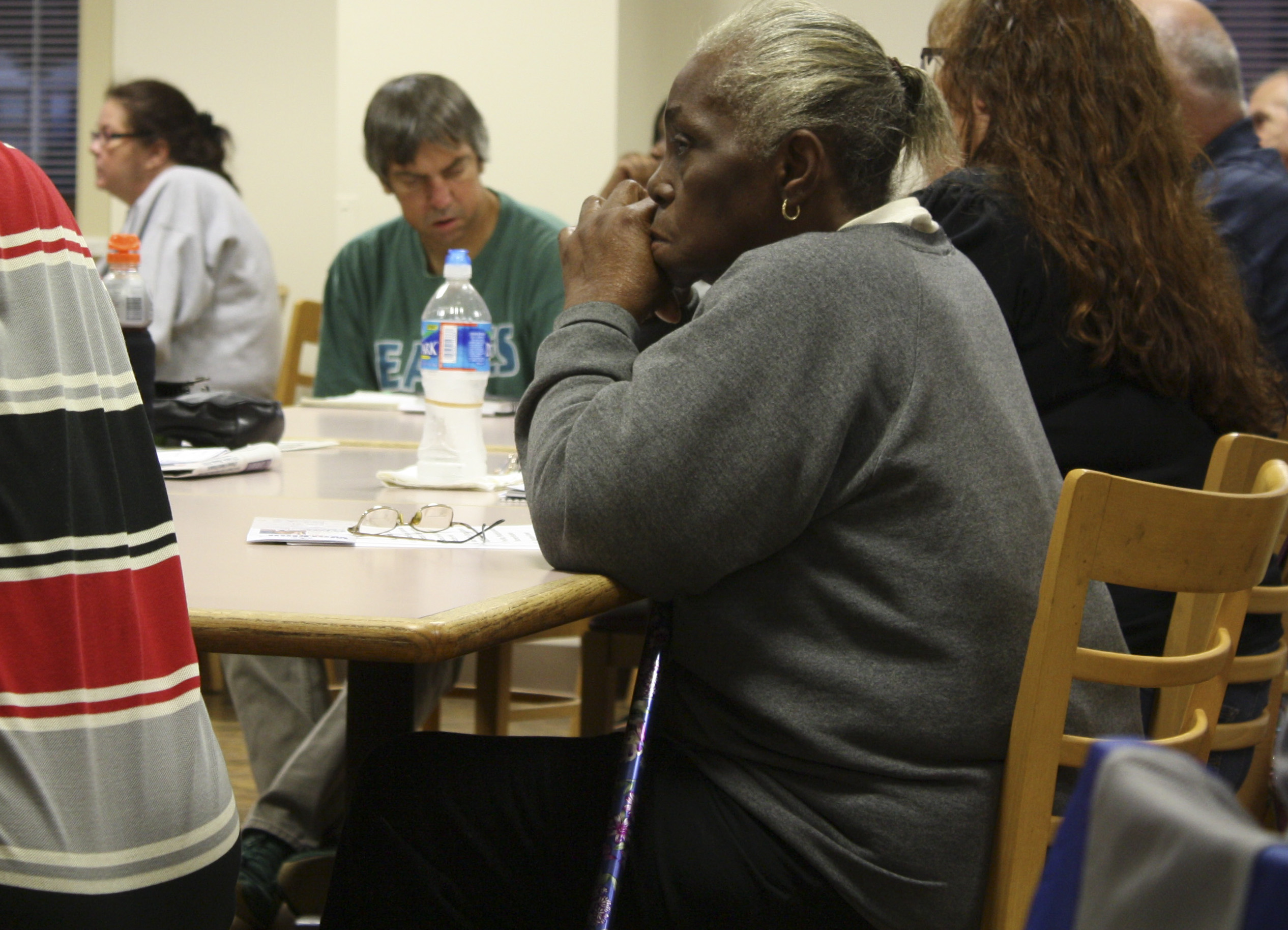 Many residents were dissatisfied by the lack of progress being made.