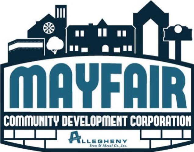 The Mayfair Community Development Corporation logo. Visit the Mayfair CDC at MayfairCDC.org. Photo via the Mayfair Community Development Corporation.