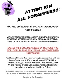scrappers, flyers,