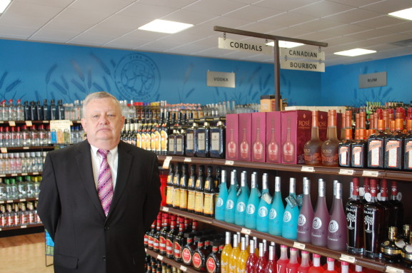 Jeff Stepp, a regional manager for Fine Wine & Good Spirits,