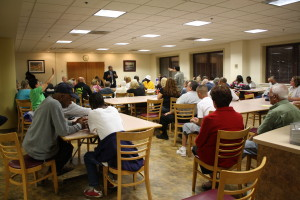 Roland Lamb speaks to the Frankford community