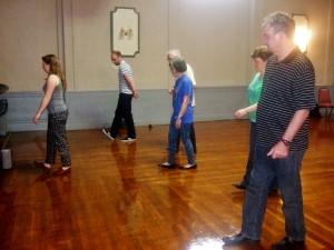 Siobhan Butler teaches festival-goers Sean Nos dancing.
