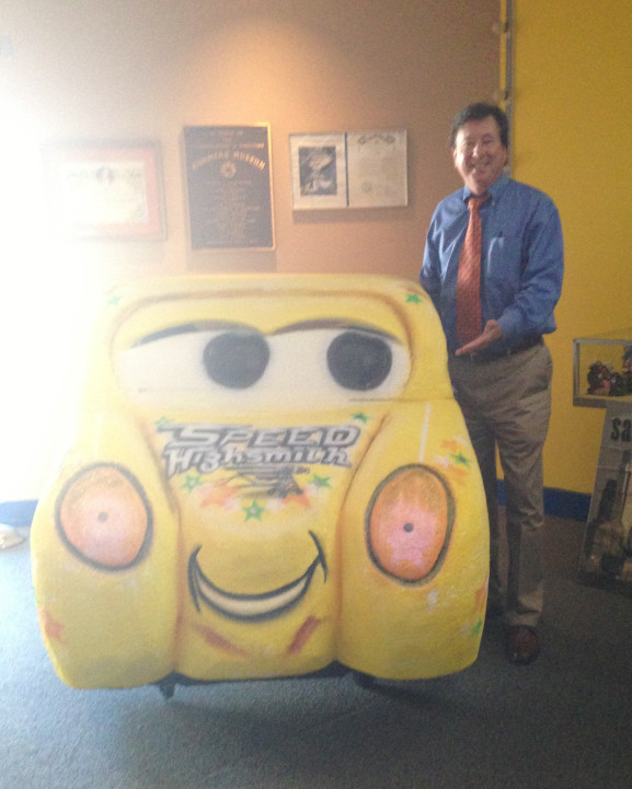 This Mummers car was made specifically for Steve Highsmith. It is currently displayed at the Mummers Museum.