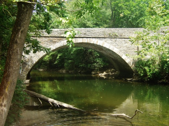 The bridge at Wissahickon Valley is well known as the picturesque entrance to the park.