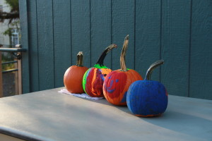 Pumpkins could be purchased for $2 and then decorated at the festival.