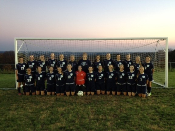 The women's soccer team at Franklin Towne Charter High School has had a hard time competing with local Catholic schools.