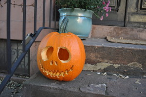 A South Street home displays their jack-o-lantern.