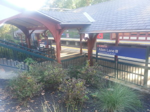 The Allen's Lane Train Station that was repaired and beautified.