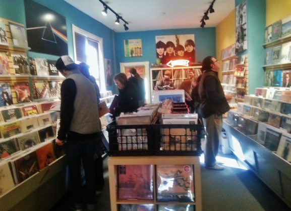 """Customers browsed the collections of music as a part of """"Back to Black Friday."""""""