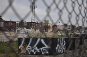 Skateboarders ans sculptors are the only people occupying this 4.5 acre lot in Hawthorne.