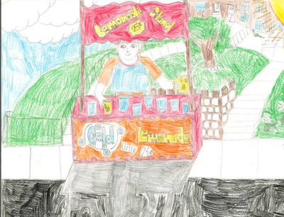 Finalist #1 was Jason, a fourth grader from Blessed Trinity Regional Catholic School, for his artwork depicting his favorite and inexpensive pastime.