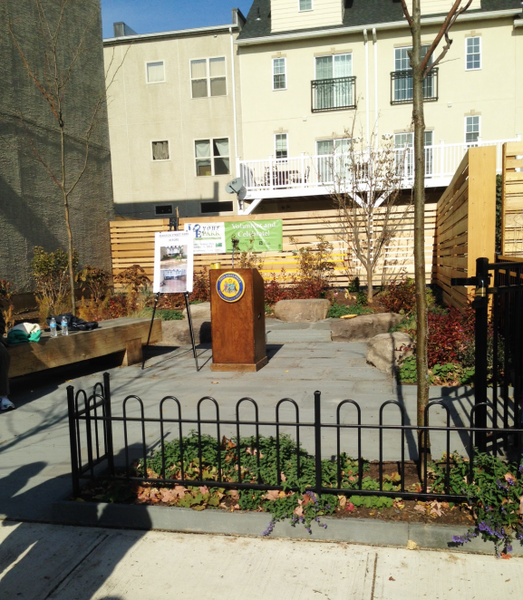 What has now been developed into Manton Street Park used to be a vacant lot in 2011.