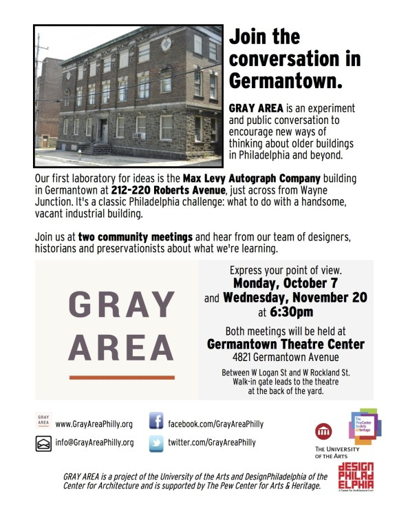 The second Germantown community meeting to discuss the preservation of the Max Levy Building will be held on Nov. 20 at 6:30 p.m.
