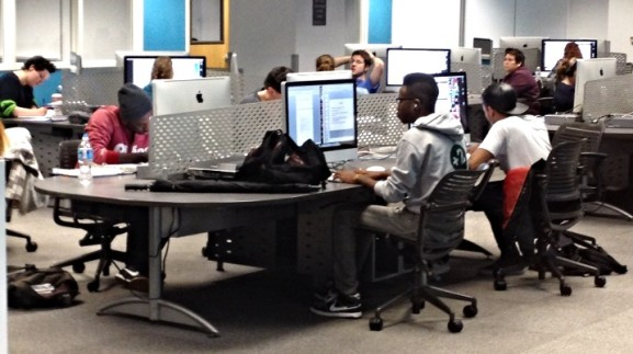 Students at Temple utilized the technology provided to excel academically.