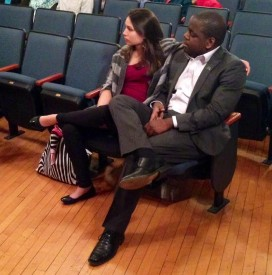 Stanford Thompson watches as POP students perform at West Catholic Preparatory High School.