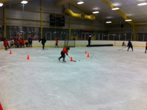 Local Philadelphia kids go through lessons and drills.