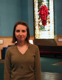 Stephanie Cawley, the Communications Director and Religious Education Coordinator at the First Unitarian Church of Philadelphia.