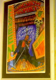 A gig poster that Potash designed for his band, The Sideshow Prophets.