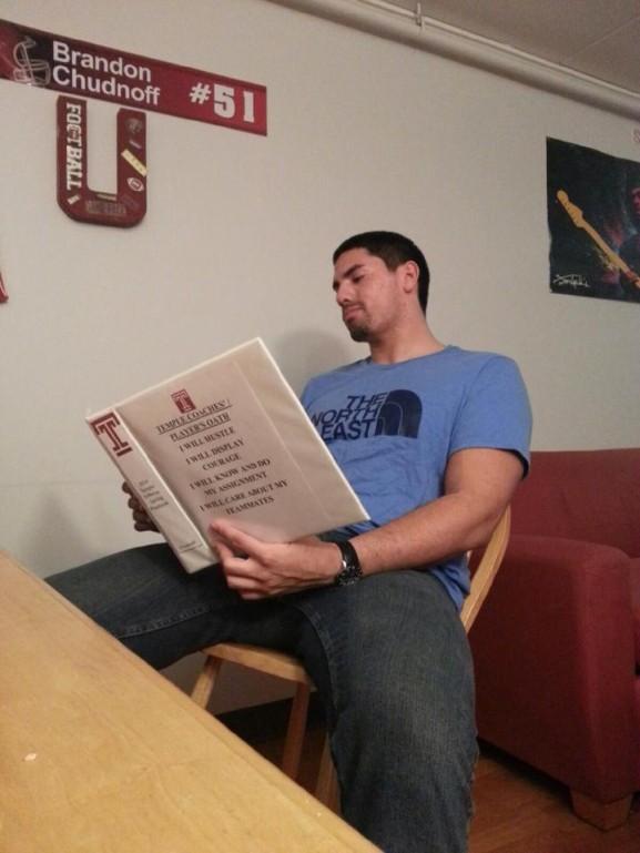 Temple University Linebacker Brandon Chudnoff