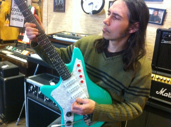 Chris DiPinto, owner of DiPinto Guitars, jammed on one of his vintage instruments.