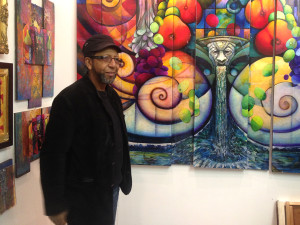 James Dupree in front a new piece of his which he plans to make look 3-Dimensional. | Photo: Patrick McPeak