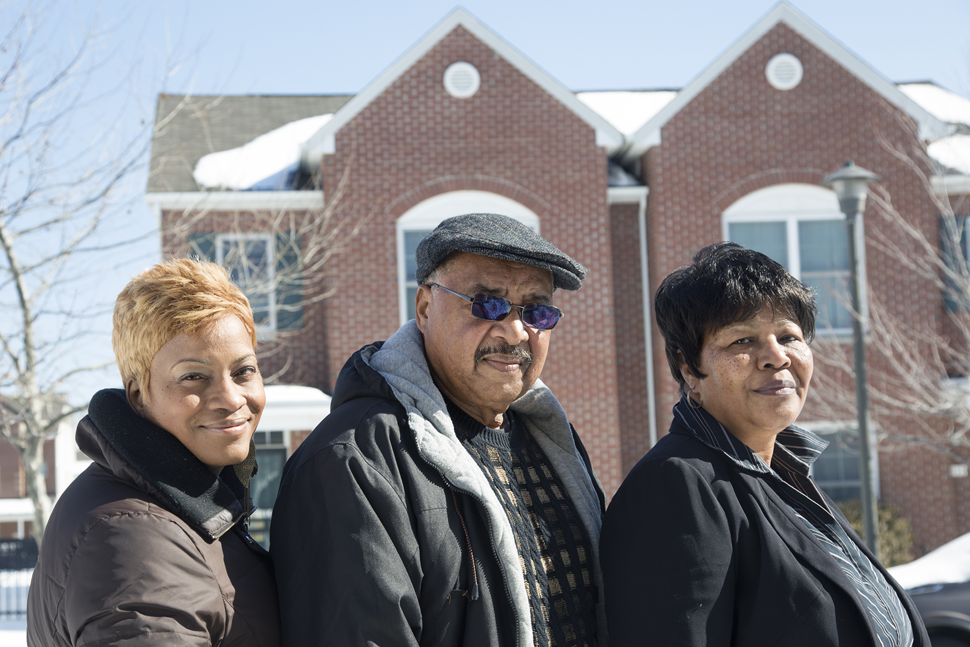 Board Members of the Greater Grays Ferry Estates Home Owners Association, (left to Right) JoAnn McClean, Joseph Wilson, and Joan Garrett.
