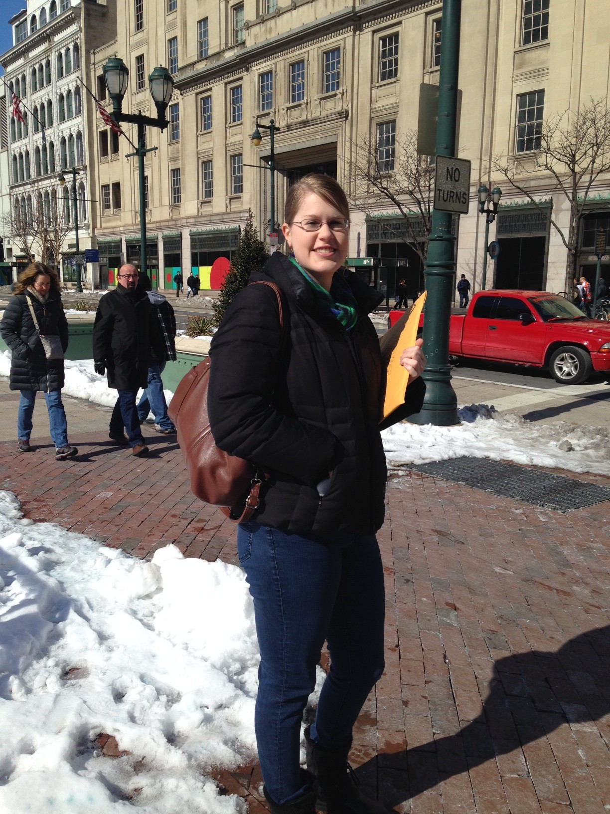 Lori Jensen, a former Philadelphia resident, thinks the proposed location at 8th and Market streets is no good for the city.
