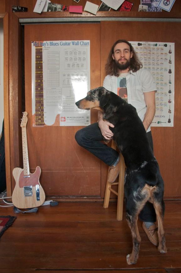 Rob Swift with his trustworthy dog, Otis. |Photo: Wojcik