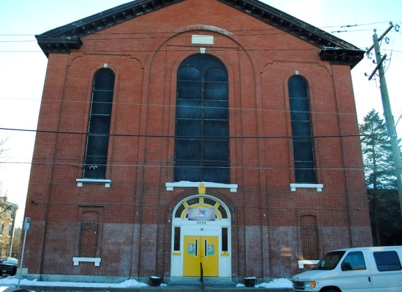 Located at 2036 East Cumberland Street, the Urban Worship Center holds mass for community members on Wednesdays and Sundays.