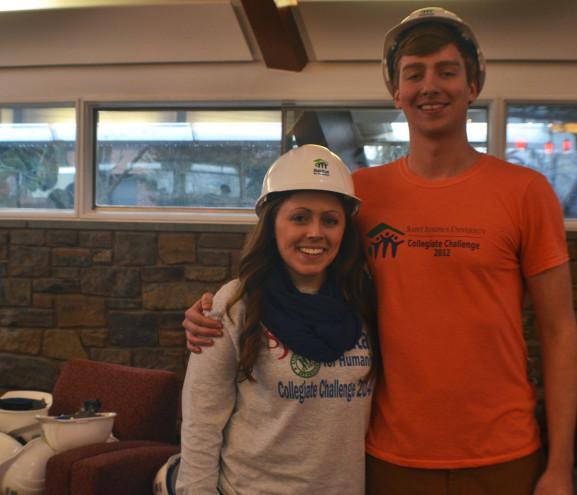 Kelly Rogers and Alex Bjorling help keep the Collegiate Challenge program running.