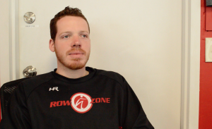 Anthony Fittipaldi, Owner and Instructor of RowZone in Manayunk was proud to have his studio give back to the fitness community of Main Street.