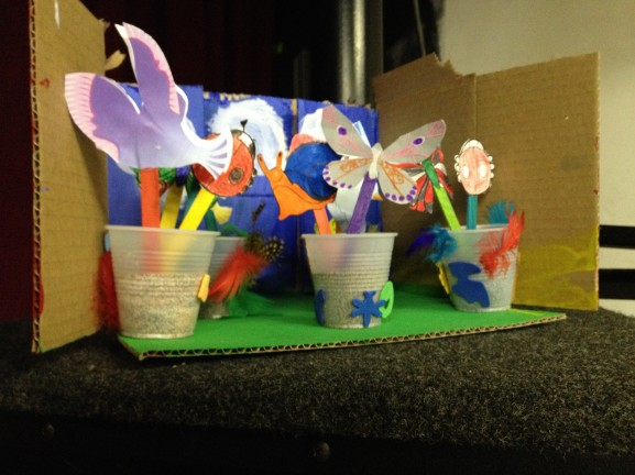 One example of the artwork created by the elementary art students.