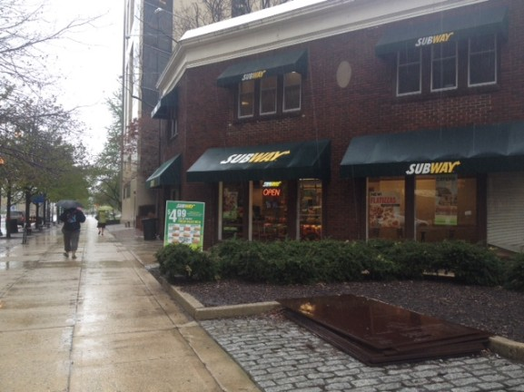 Philadelphia's new Menu Labeling Law forced chain restaurants such as Subway to add nutritional information on their menu boards.