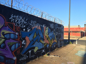 Wrap around graffiti art from the Sixth Sense (freestyle) video