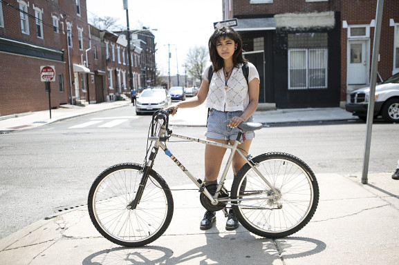 """UArts student, Stefanie Gomez, has lived in Newbold for two years and says she sees """"more and more college kids and industry folk in the neighborhood,"""" Gomez said."""