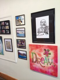 Some of the art in the Overbrook Environmental & Arts Education Center