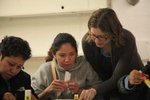 Maria Ghiso leads an ESL class.