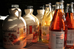 Syrup and beverages were only a few of the items sold at the KCFC's Tuesday market place.