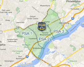 The 15th District was split into three different public service areas (PSA's).