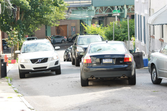 Cars already had limited space to navigate through on Gay Street with the lot in place.