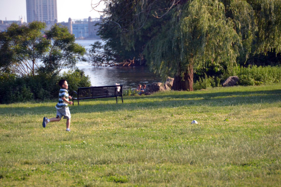 The park is particularly appealing to families with kids who can utilize the playgrounds and fields.