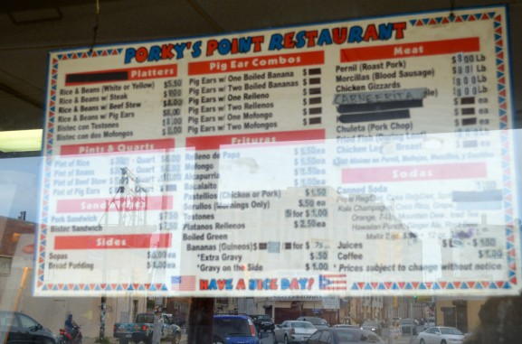Porky's Point menu has evolved since 1974. The menu provides many options and different types of Spanish foods.
