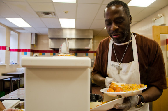 """After volunteering at the Advocate for three months, Carroll Robinson says the work """"enhances his happiness."""""""