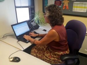 Nancy at Her Desk