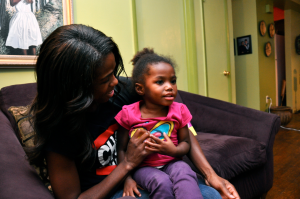 Courtney Young's daughter, Carter, does not have diabetes, but the family monitors her health to be safe.