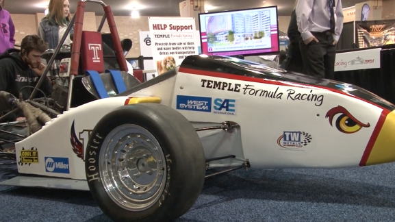 Engineering students from Temple University strutted their stuff at the 2015 Auto Show
