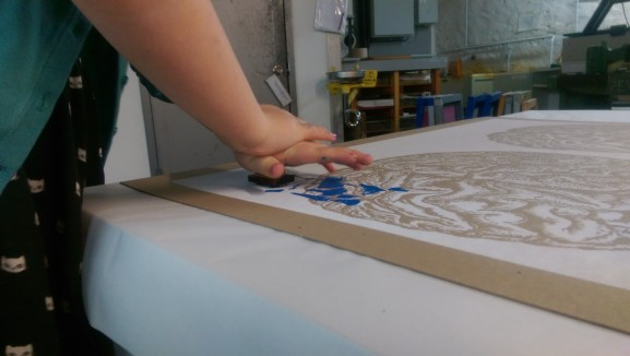 Illse Smith stamps her healthy foods onto the screen print brain.